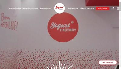 Site internet de Yogurt Factory