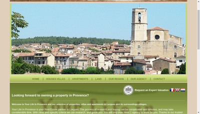 Site internet de Your Life In Provence