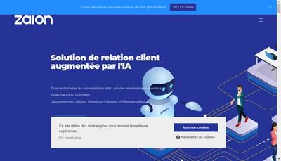 Site internet de Zaion