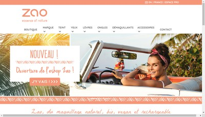 Site internet de Zao