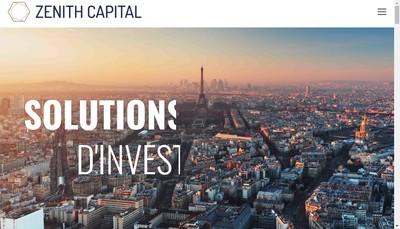 Site internet de Zenith Capital