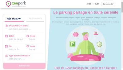 Site internet de Zenpark