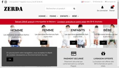 Site internet de Zerda