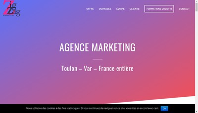 Site internet de Zigzag Marketing