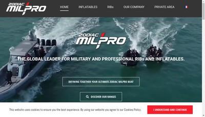 Site internet de Zodiac Milpro