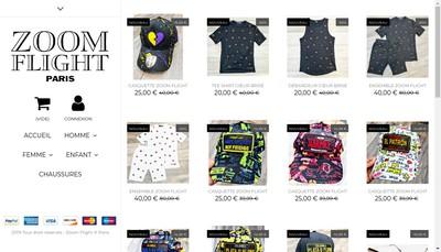 Site internet de Zoom Paris