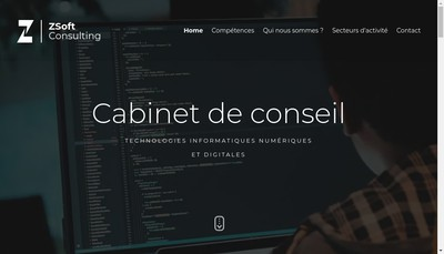 Site internet de Zsoft Consulting