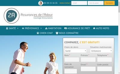 Site internet de 2A Assurances de l'Adour