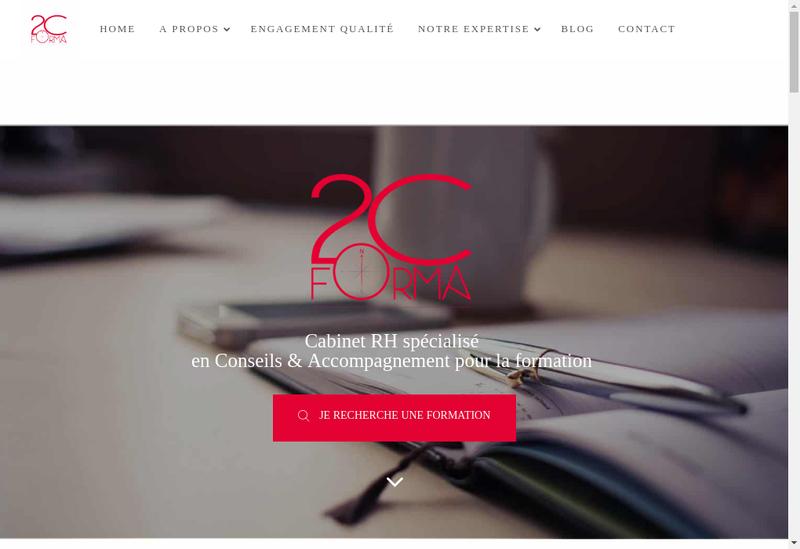 Capture d'écran du site de 2C Forma