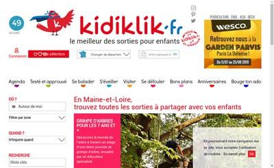 Site internet de Kidiklik