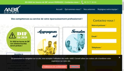 Site internet de Ns-Conseil