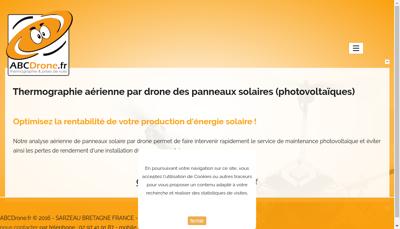Capture d'écran du site de Abc Drone