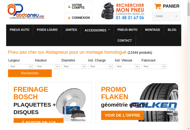 Capture d'écran du site de Autogom