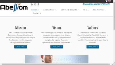 Site internet de Abelliom Aero