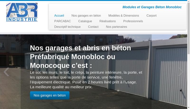 Capture d'écran du site de Abr Industrie