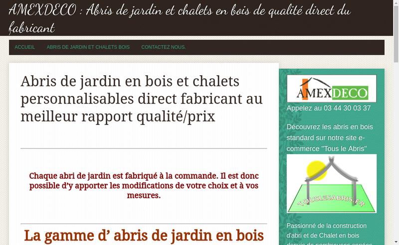 Capture d'écran du site de Amexdeco