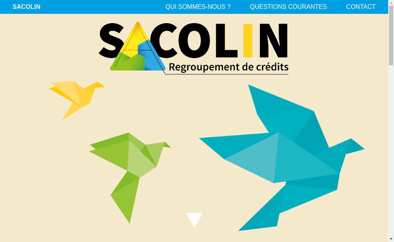 Capture d'écran du site de Sacolin