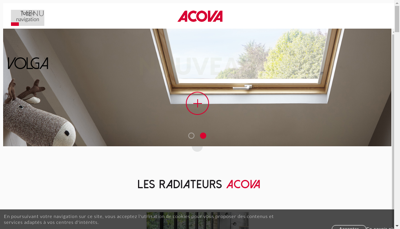 Capture d'écran du site de Zehnder Group France