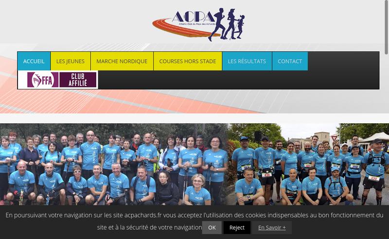 Capture d'écran du site de ACPA