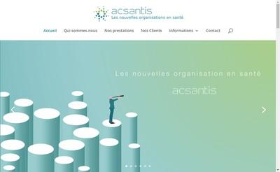 Site internet de Acsantis