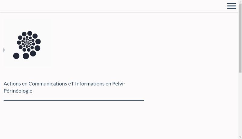 Capture d'écran du site de Acti-Pp