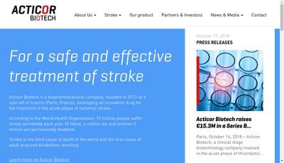 Site internet de Acticor Biotech