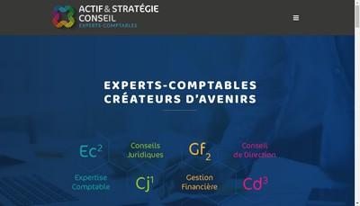 Site internet de Actif Conseils Associes