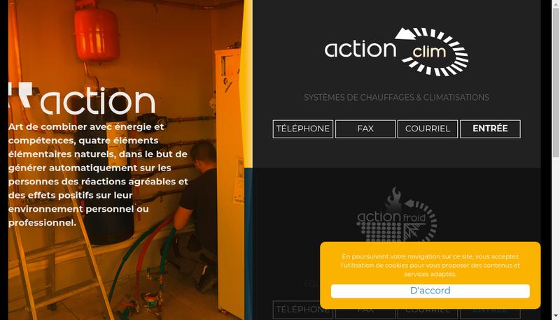 Capture d'écran du site de Action Froid SARL