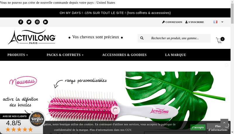 Capture d'écran du site de Miss Antilles International