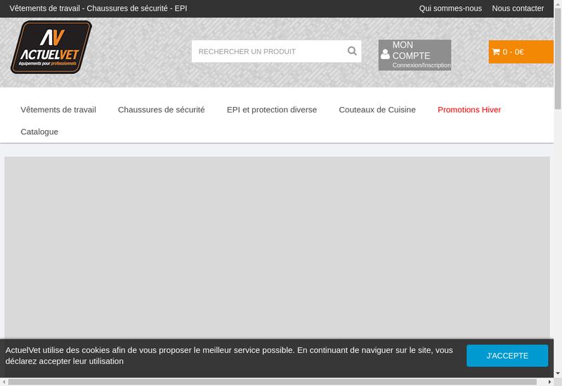 Capture d'écran du site de Actuel Vet