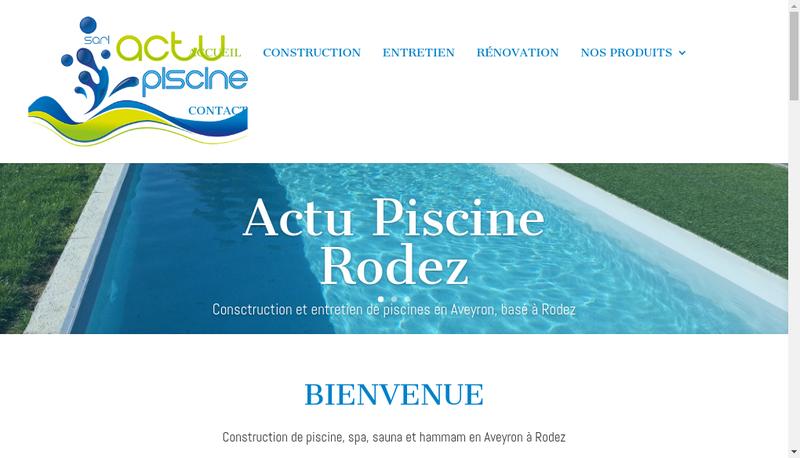 Capture d'écran du site de Actu Piscine