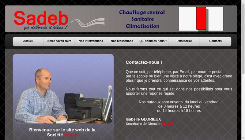Capture d'écran du site de Sadeb
