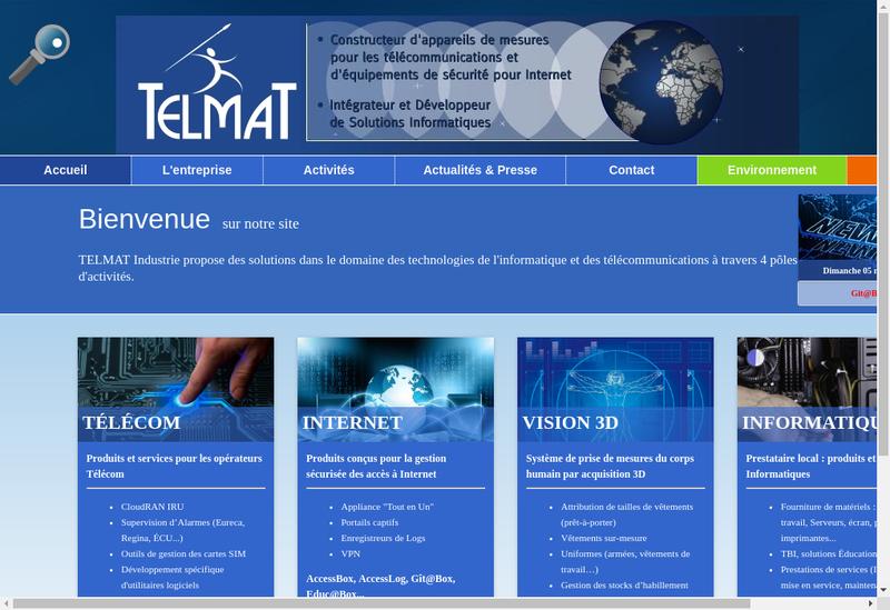 Capture d'écran du site de Societe Auxiliaire Developp Fertilisation
