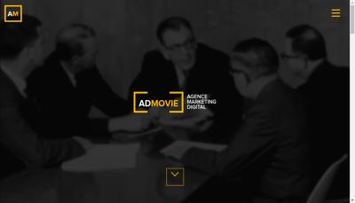 Capture d'écran du site de Admovie