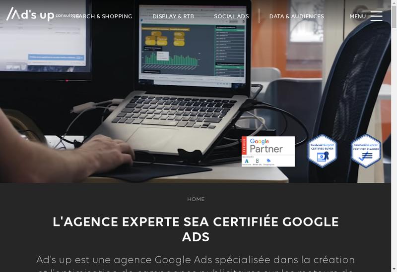 Capture d'écran du site de Ad S Up Consulting