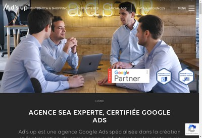 Site internet de Ad'S Up Consulting