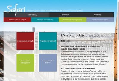 Site internet de Safari RH