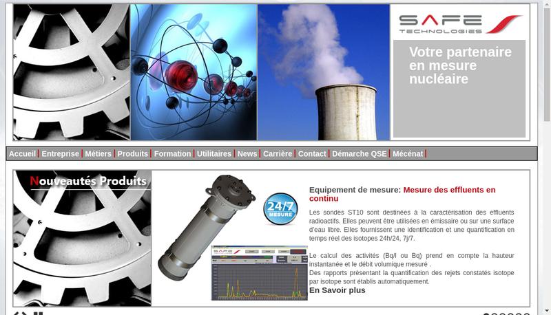 Capture d'écran du site de Safe Tech