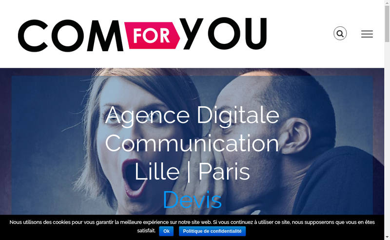 Capture d'écran du site de Comforyou
