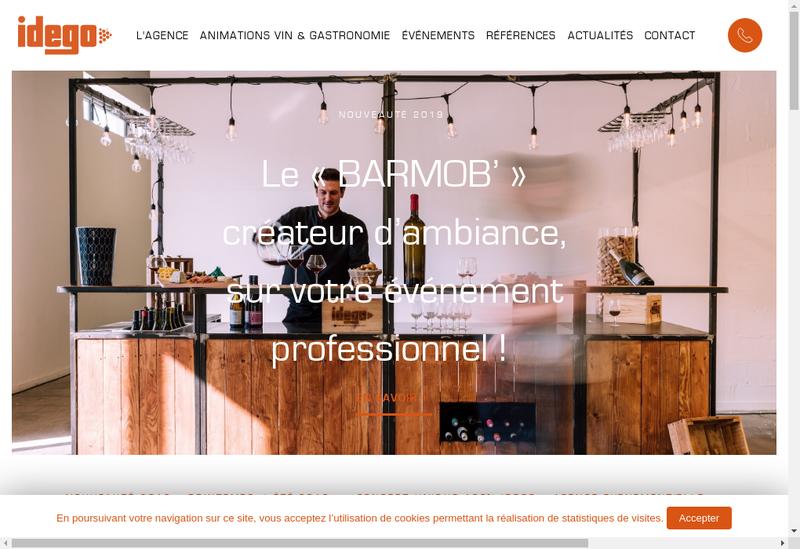 Capture d'écran du site de Idego