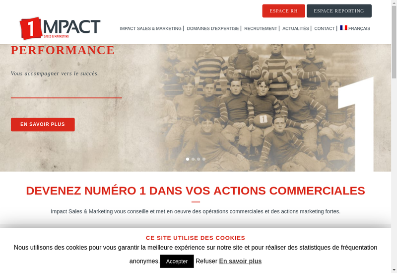 Capture d'écran du site de Marketing Impact