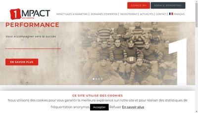 Site internet de Impact Sales et Marketing