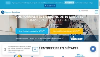 Site internet de Agence Juridique