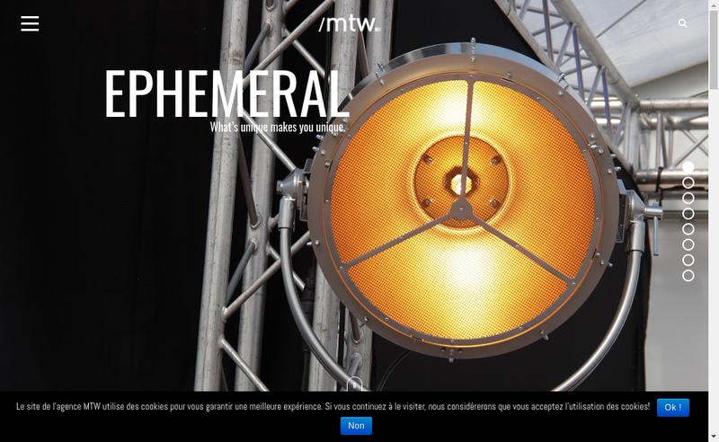 Capture d'écran du site de Agence Mtw