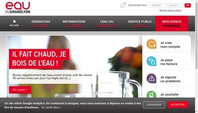 Site internet de Societe Eau du Grand Lyon par Abreviation Eau du Grand Lyon