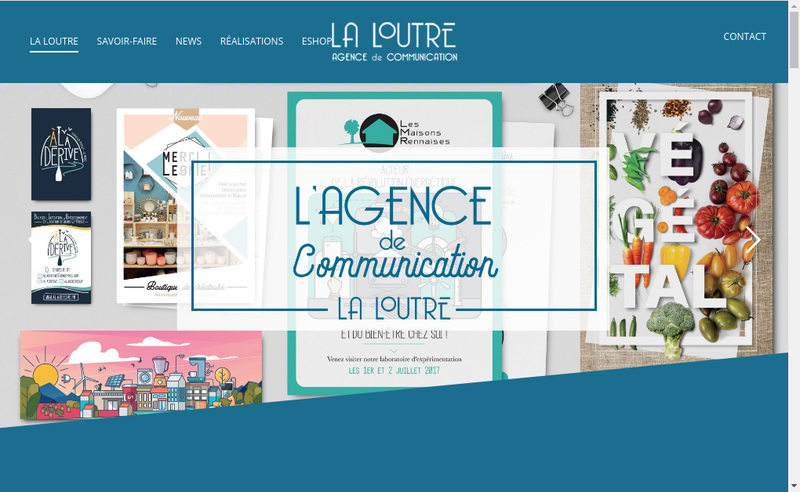 Capture d'écran du site de La Loutre