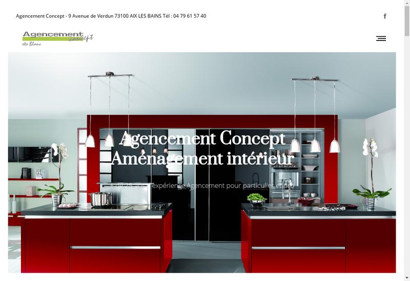 Capture d'écran du site de Agencement-Concept