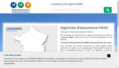 Site internet de Hervé Visini, Agent général MMA Assurances