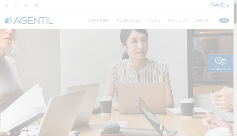 Capture d'écran du site de Agentil France
