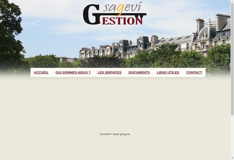 Capture d'écran du site de Sagevi Gestion